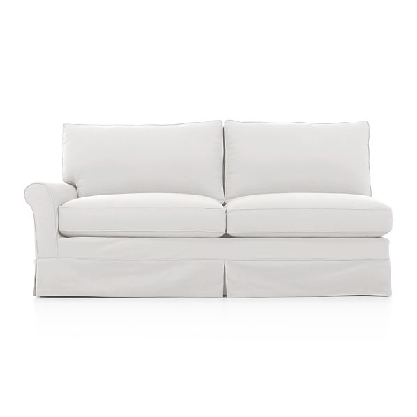 Harborside Slipcovered Sectional Left Arm Full Sleeper