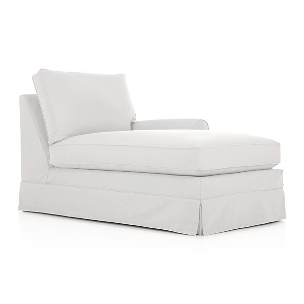 Harborside Slipcovered Sectional Right Arm Chaise