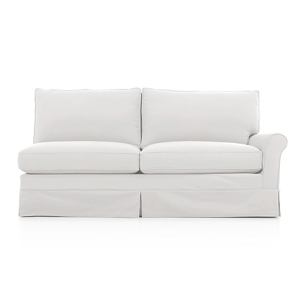 Harborside Slipcovered Sectional Right Arm Full Sleeper
