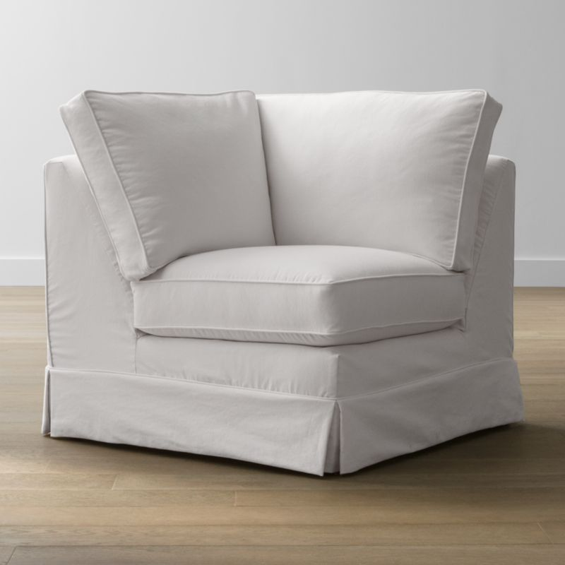 Keep your Harborside sectional corner looking as fresh as the day you brought it home with this convenient, carefree replacement slipcover. Fitted cotton-blend slipcover is tailored with crisp inverted kick pleats and self-welting to keep it neatly in place. Harborside Corner Replacement Slipcover is a Crate and Barrel exclusive.<br /><br /><NEWTAG/><ul><li>Removable slipcover is machine washable</li><li>Self-welting</li><li>Material origin: see swatch</li><li>Made in North Carolina, USA</li></ul><br />