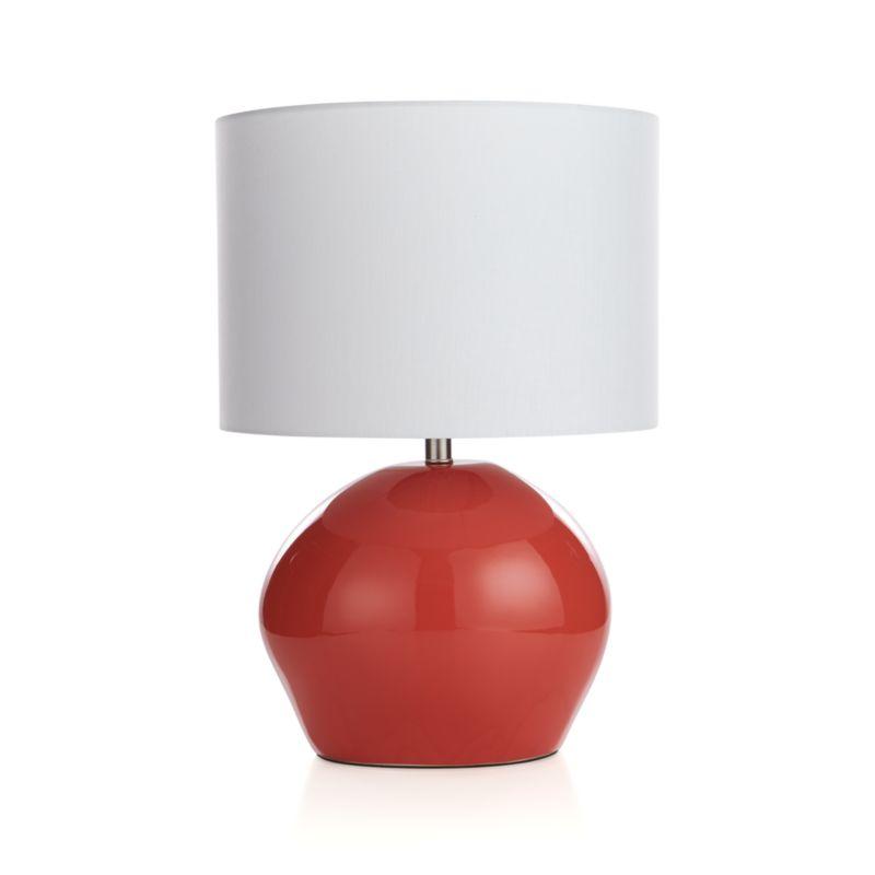 harper persimmon table lamp crate and barrel. Black Bedroom Furniture Sets. Home Design Ideas