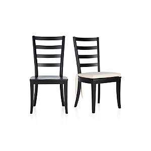 Harper Black Side Chair and Sand Cushion