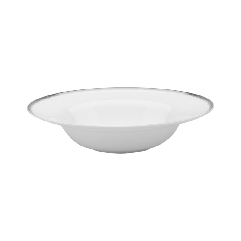 Simple and sophisticated. Clean contemporary coupe shape in gleaming white gets an elegant accent of feathered platinum around its rim. Bone china is highly durable and chip- and stain-resistant.<br /><br /><strong>Please note:</strong> This bowl will be discontinued in June 2014.<br /><br /><NEWTAG/><ul><li>Bone china</li><li>Coupe shapes</li><li>Platinum rims</li><li>Dishwasher-safe; hand wash for longer life</li><li>Made in Japan</li></ul>