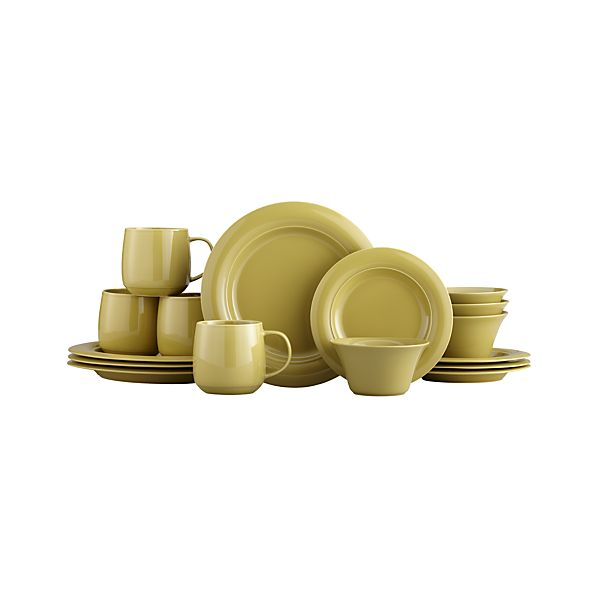 Harris Green 16-Piece Dinnerware Set
