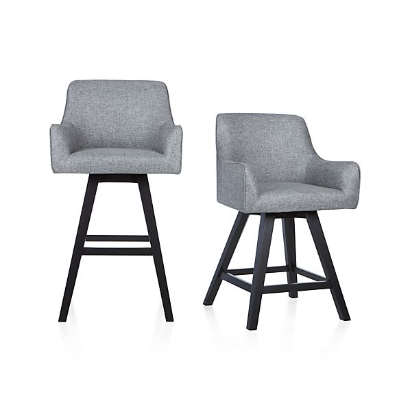 Harvey Swivel Bar Stools Crate And Barrel