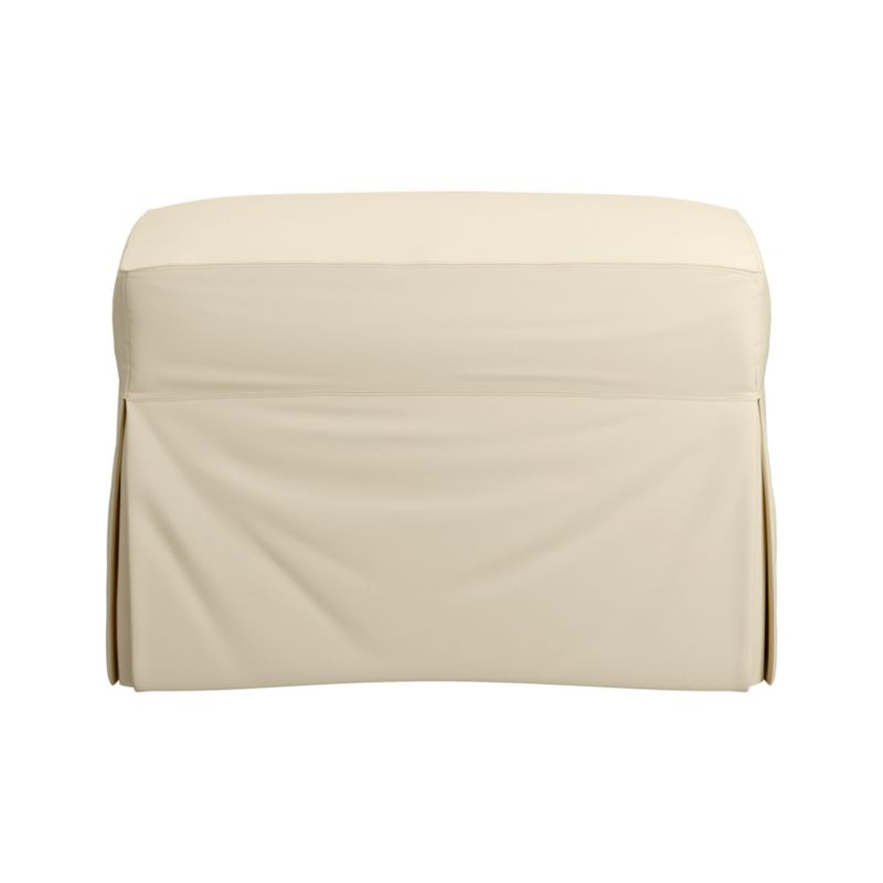 "Family-friendly slipcover for Hathaway Swivel Glider in a cotton-poly blend goes right in the washing machine.<br /><br />Additional <a href=""http://crateandbarrel.custhelp.com/cgi-bin/crateandbarrel.cfg/php/enduser/crate_answer.php?popup=-1&p_faqid=125&p_sid=DMUxFvPi"">slipcovers</a> available below and through stores featuring our Furniture Collection.<br /><br />After you place your order, we will send a fabric swatch via next day air for your final approval. We will contact you to verify both your receipt and approval of the fabric swatch before finalizing your order.<br /><br /><NEWTAG/><ul><li>Cotton-polyester with topstitch detailing</li><li>M"