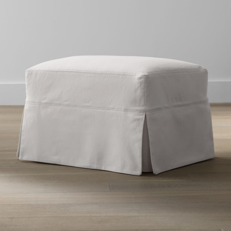 Slipcover Only For Hathaway Ottoman Snow Crate And Barrel
