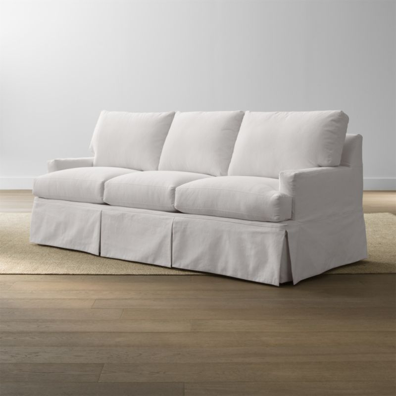 Hathaway Slipcovered Sofa Snow Crate And Barrel