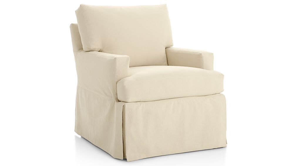 Hathaway Slipcovered 360 Swivel Glider