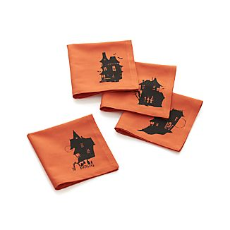 Haunted House Cocktail Napkins Set of Four