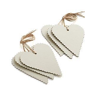 Set of 6 Heart Gift Tags