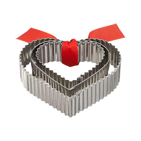 3-Piece Heart Shaped Cookie Cutter Set