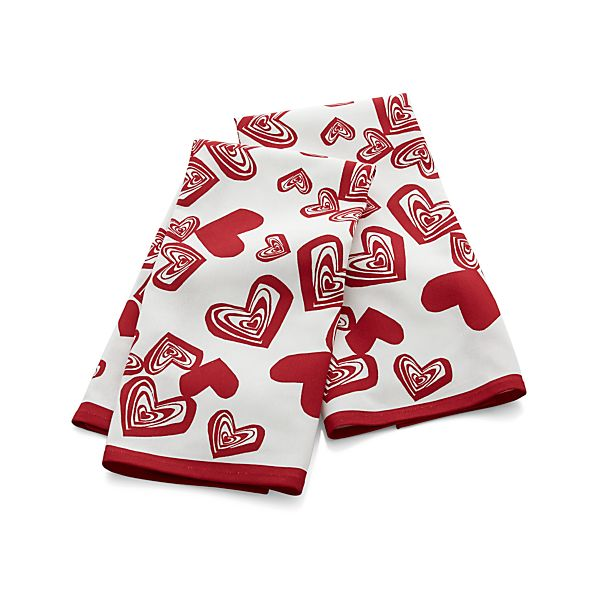 Set of 2 Hearts Dish Towels