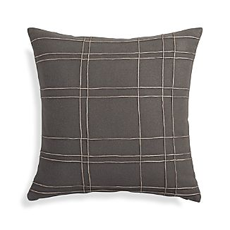"Heath Grey 20"" Pillow"