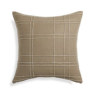 "Heath Taupe 20"" Pillow"