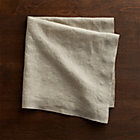 Helena Dark Natural Linen Napkin.