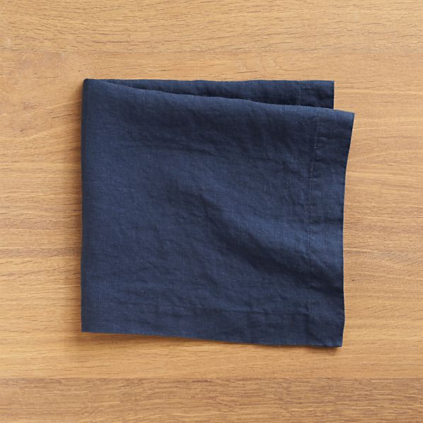 Set of 8 Helena Indigo Linen Napkins