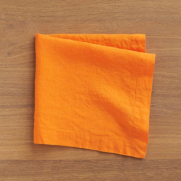 Set of 4 Helena Marigold Linen Napkins