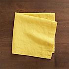 Helena Mustard Linen Napkin.