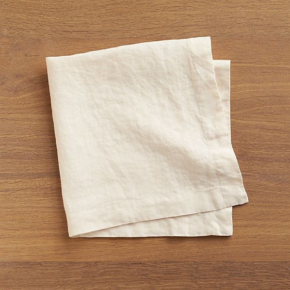 Set of 8 Helena Natural Linen Napkins