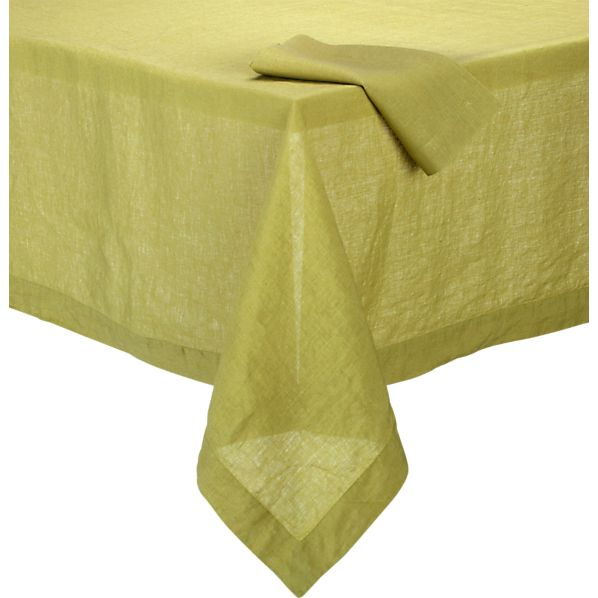 Helena Pear Tablecloth and Helena Pear Linen Napkin