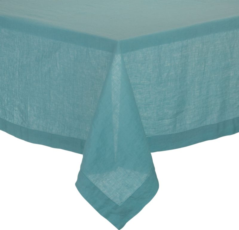 "Helena Aqua 60""x120"" Tablecloth"