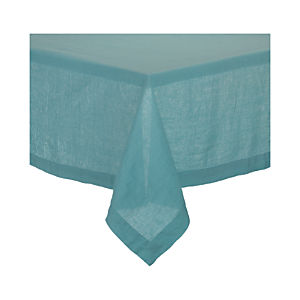 "Helena Aqua 60""x90"" Tablecloth"