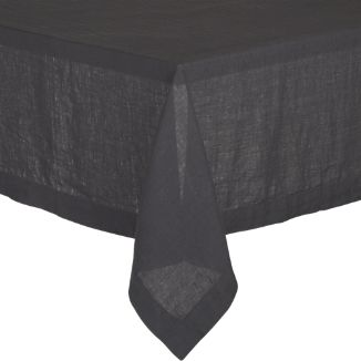 "Helena Graphite 60""x90"" Tablecloth"