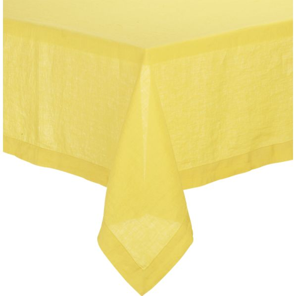 "Helena Mustard 60""x120"" Tablecloth"