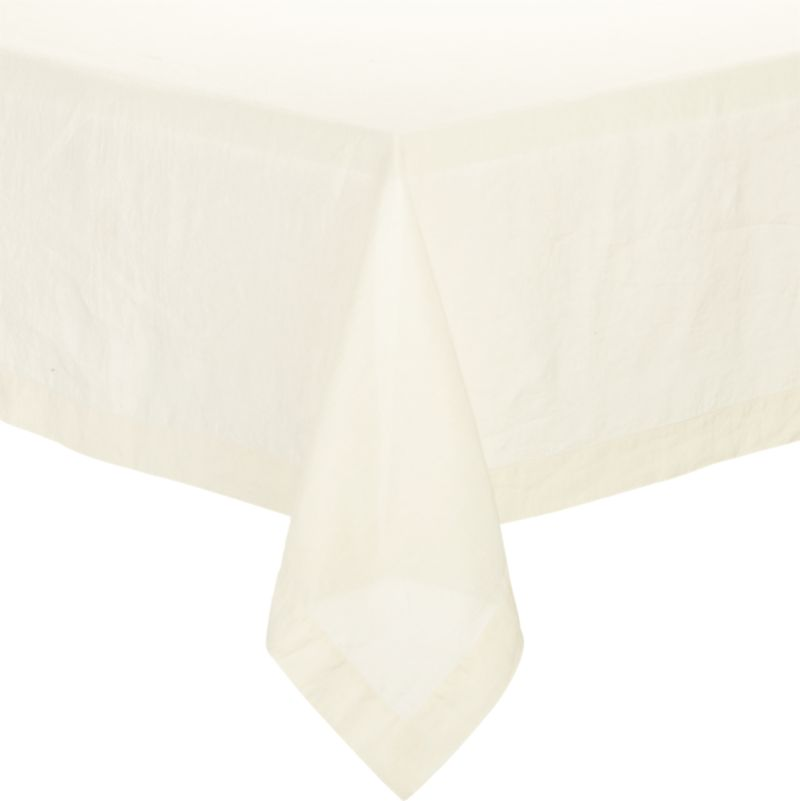 "Helena Vanilla 60""x90"" Tablecloth"