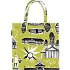 Marimekko Helsinki Espa Lime and Black Bag. 18.7&amp;quot; sq.