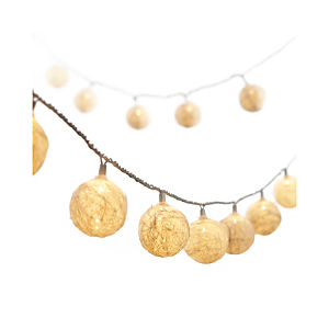 Hemp Ball String Lights