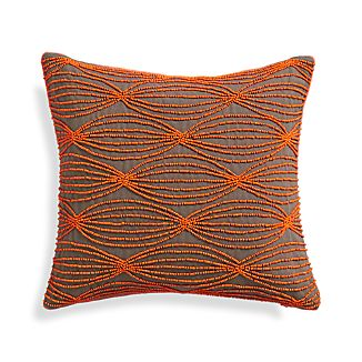 "Hepburn 12"" Pillow with Feather-Down Insert"