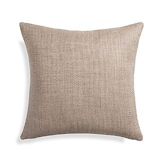 "Herringbone Natural 20"" Pillow"