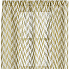 Herringbone Gold Sheer Curtain Panel.