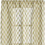 Herringbone Gold Sheer 48x108 Curtain Panel