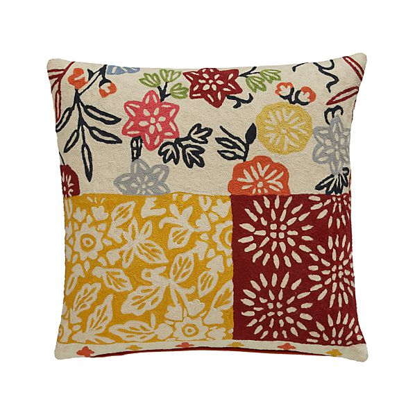 "Hester 20"" Pillow with Down-Alternative Insert"