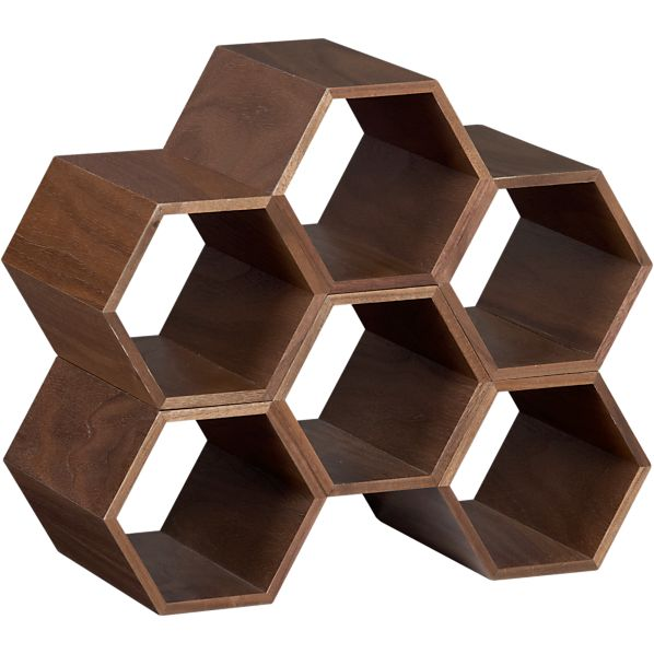 Set of 2 Hexa Stacking Wine Racks