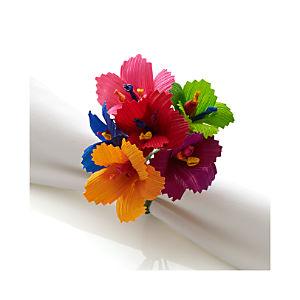 Hibiscus Multi Bunch Napkin Ring