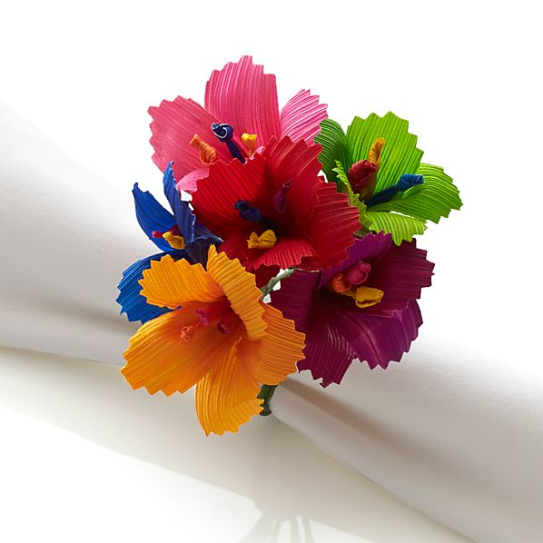 Hibiscus Multi Bunch Napkin Ring