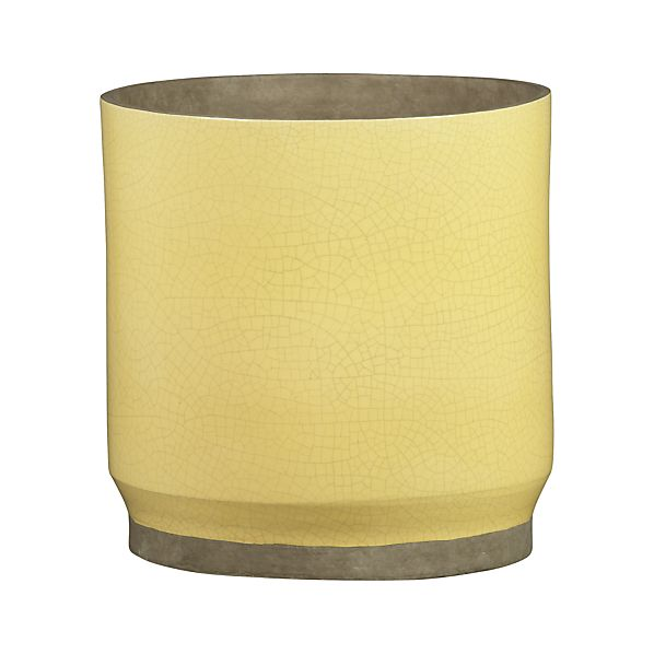 Himara Large Yellow Planter