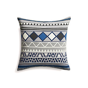 "Hira  18"" Pillow with Feather-Down Insert"