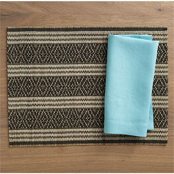 Hitch Placemat and Helena Natural Linen Napkin