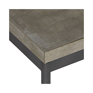 Concrete Top/ Hammered Base Dining Tables