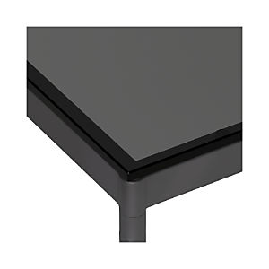 Grey Glass Top/ Hammered Base Dining Tables