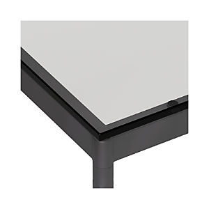Clear Glass Top/ Hammered Base Dining Tables