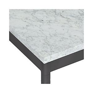 Marble Top/ Hammered Base Dining Tables