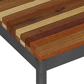 Reclaimed Wood Top/ Hammered Base Dining Tables