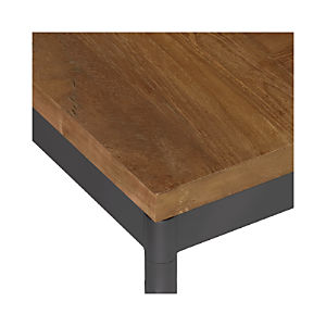 Teak Top/ Hammered Base Dining Tables