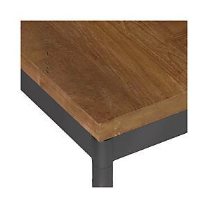Teak Top/ Hammered Base Dining Tables